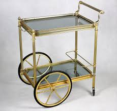 antique bar cart. French Vintage Bar Cart, Rolling Mid Century Cart By AntiqueBootique On Antique