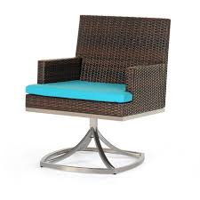 Caluco Mirabella Resin Wicker Patio Swivel Rocker Dining Arm Chair ...
