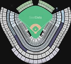 Dodger Stadium Seating Chart With Rows Rare Dodger Seating Dodger Stadium Seat Map Seating Chart