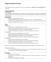 Introduction For Argumentative Essay Examples English Essay