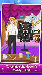 princess wedding tailor salon fashion makeover dress up makeup spa games screenshot