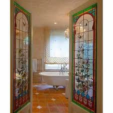 hinged multi color glass door rs 750