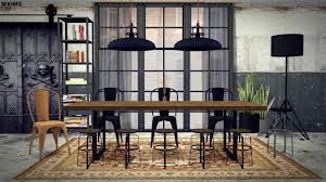 Industrial Dining Room Table Mxims Industrial Dining Room Furnitures Dining Room Sims4