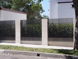 fence design. Front Fence   Rendered Walls With Steel Blade Gates (vertical) Landscape Element Pinterest Fence, Fences And Gate Design I