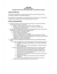 Cashier Duties and Responsibilities Resume List Of Skills for Cashier Job  Description Cashier Skills for