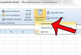 How To Turn On Automatic Calculation In Excel 2010 Solve Your Tech