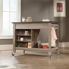Sauder Kitchen Furniture Sauder 417089 Salt Oak Mobile Kitchen Island