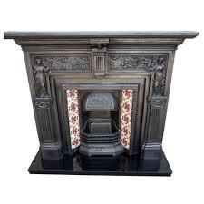 cs105 classic victorian cast iron fire surround with qualtiy stovax insert
