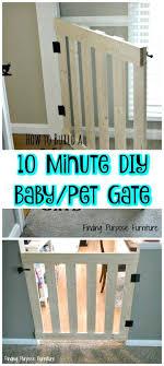 super easy 10 minute diy baby pet gate