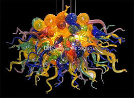 modern glass chandelier lighting. 2017 100 hand blown glass artistic chandelier dale chihuly murano borosilicate contemporary lighting fixture chandeliers light from eccoguo modern r