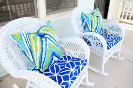 Cheap patio furniture design with elegant white wicker chair