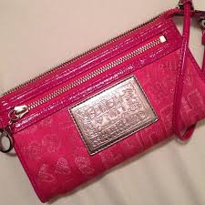 Hot Pink Coach Poppy Wristlet