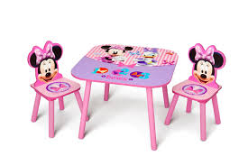 delta minnie mouse childs table and chair set your way for toddlers uk delta