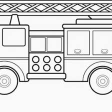 Small Picture Fire Truck Coloring Page For Toddlers Archives Mente Beta Most