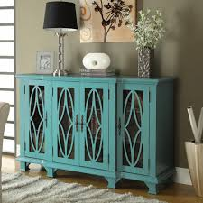 accent teal cabinet with 4 glass doors furniture s