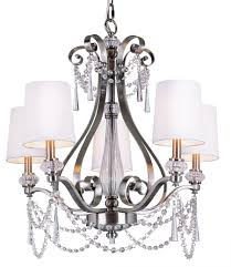 lighting impressive brushed nickel chandelier with crystals 0 transitional trans globe 5 light crystal finish interesting