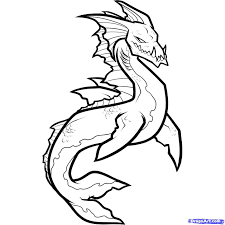 monster creature drawings easy. Easy Mythical Creatures To Draw Monster Creature How Sea Step And Drawings