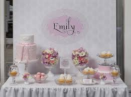 christening table decorations girl baptism decoration ideas for
