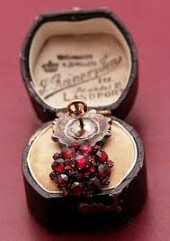pair of victorian bohemian garnet earrings sparkling with inner fire a beautiful pair of antique