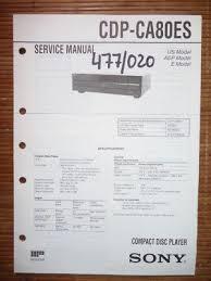 sony service manual~cdp ca80es cd compact disc player~original service manual sony cdp ca80es cd player original