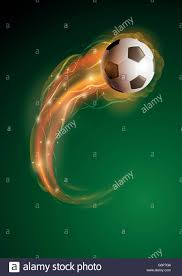 4 Pics 1 Word Lights Soccer Ball With Blue Flame Ball Of Fire Stock Vector Images Alamy