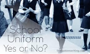 school uniform essay yes or no