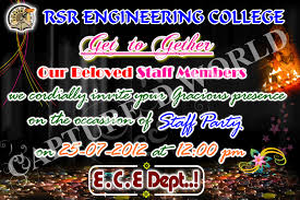 capture d world college invitation card models for all functions now i have showing the staff party invitation card