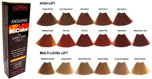 Hicolor Loreal Color Chart Loreal Excellence Hicolor For Dark Hair Only In 2019