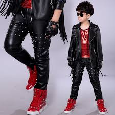 boys leather pants