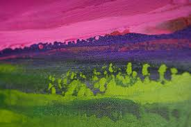 dream by qiqigallery 36 x24 original modern abstract wall paintings abstract art large wall art canvas art magenta purple green