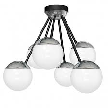 Deckenleuchte 8878 Sphere Glas Modern Deckenlampe Metall