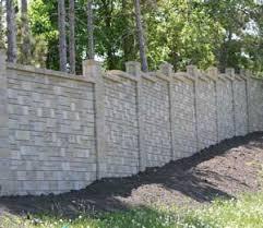 concrete fence design. Interesting Concrete Concrete Fence With Ashlar Pattern To Fence Design E