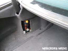 mercedes benz cls fuse list fuse box diagram trunk location