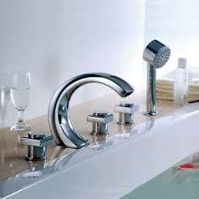 new design 5 pcs chrome finish brass bathtub shower faucet bathtub waterfall bath tub mixer