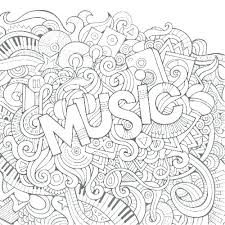 Music Coloring Pages For Kindergarten Coloring Pro