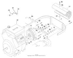 toro professional 74201 z255 z master 1998 sn 890001 899999 engine clutch and muffler shield