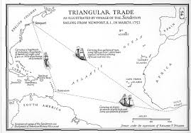 triangular trade large map of triangular trade