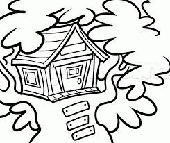 Simple How To Draw A Treehouse Step By 13 Inside Perfect Design