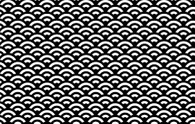 和の文様青海波00581の無料イラスト