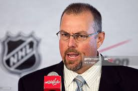 Steve Kolbe, play-by play voice of the Washington Capitals, at an NHL...  News Photo - Getty Images