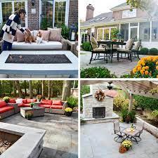 evergreen landscape which patio stone