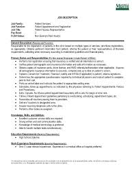 Patient Service Representative Resume Template Best Solutions Of