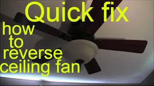 how to reverse ceiling fan