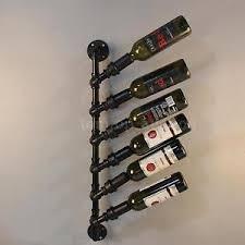 wall mounted metal wine rack. Industrial 6 Bottle Wall Mount Wine Rack Rustic Holder Metal \u0026 Pipe Design X9L4 Mounted