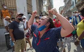 Cuba Protesters Cite Shortages ...