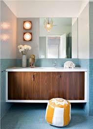 mid century modern bathroom vanity. Laminate Vanity For Elegant Mid Century Modern Bathroom Small Space With Frameless Mirror