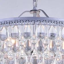 teardrop glass chandelier crystal 6 light chandelier with clear teardrop beads free with regard to modern