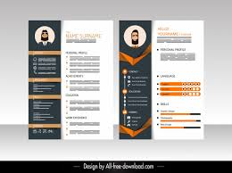 Modern Elegant Font For Resume Resume Template Elegant Modern Contrasted Decor Free Vector