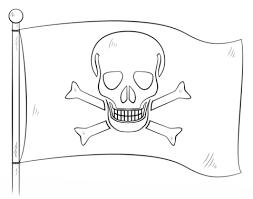 Kleurplaat Piraat Simpel