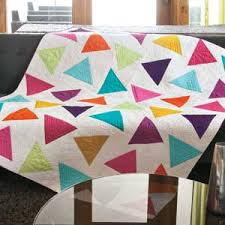 Triangle Toss - Bright Triangle Solids Modern Quilt Pattern by ... & Add a bright, colorful note to any room with this cool modern throw-size  quilt. Our step-by-step photos show how to use simple template shapes to ... Adamdwight.com